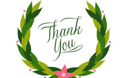 It's Thank you Thursday!