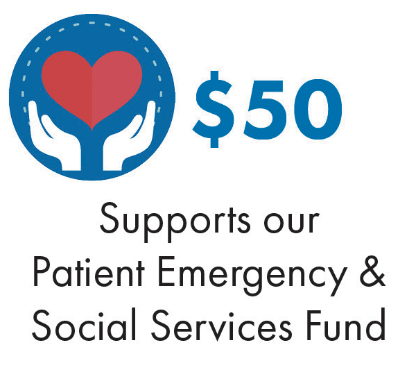Supports our Patient Emergency & Social Services Fund