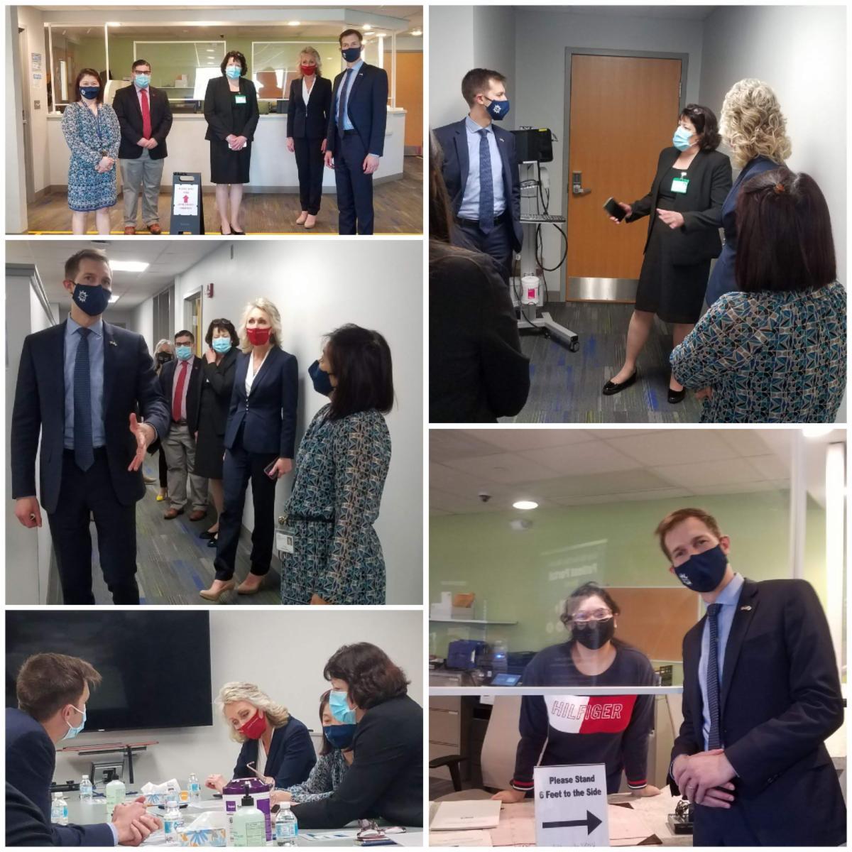 Congressman Auchincloss visits Manet Taunton