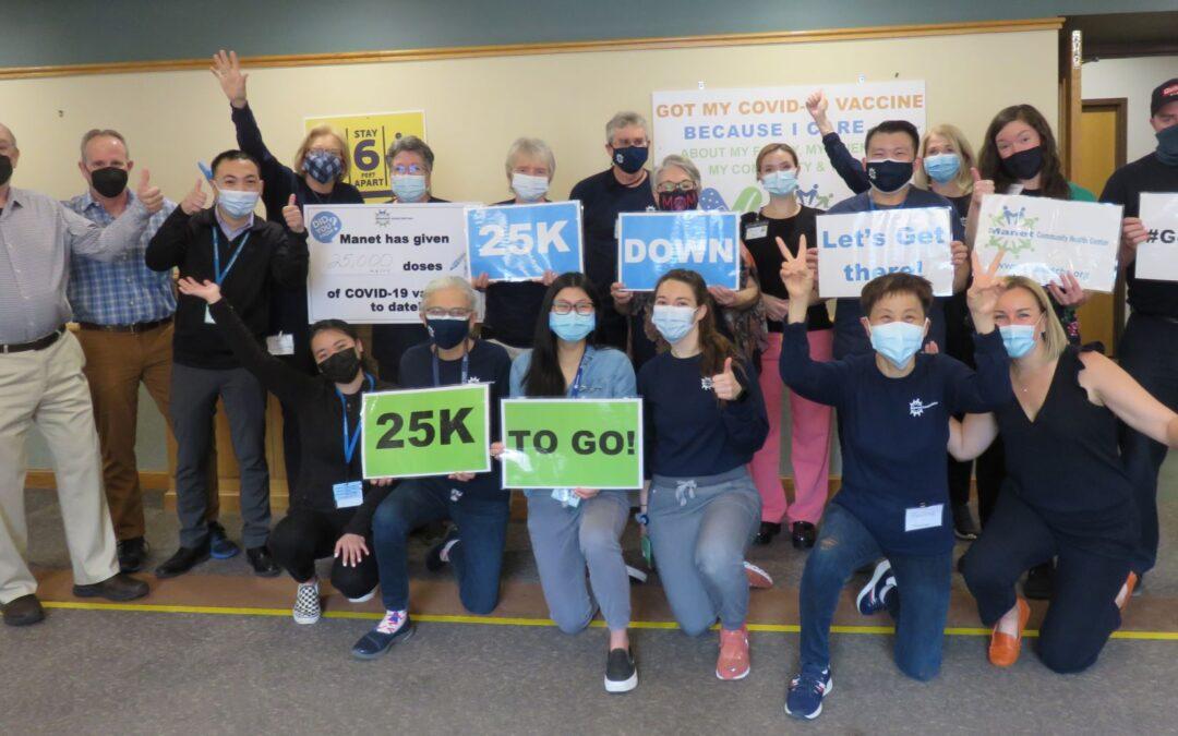 Manet Community Health Center Clinics Surpass 25,000 Vaccine Milestone